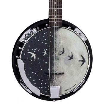 Luna Guitars Moonbird 6-String Banjo con Pastilla