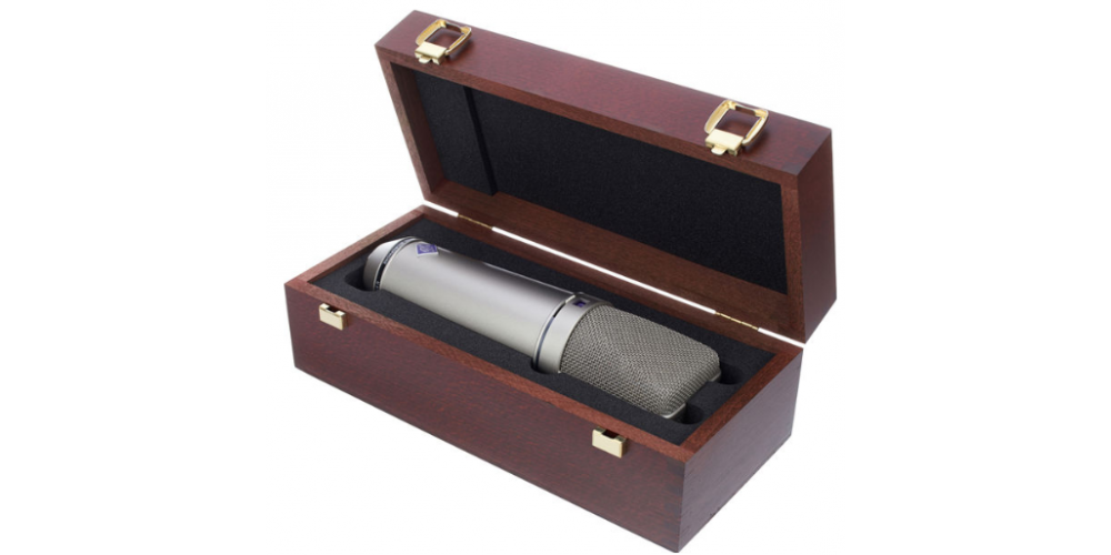 u87 ai studio set niquel microfono estudio packaging