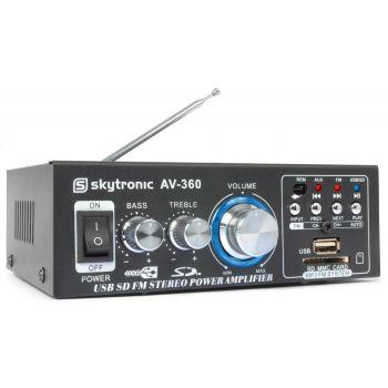 SKYTRONIC AV360 Amplificador con USB/SD FM 2 X 40W 103142