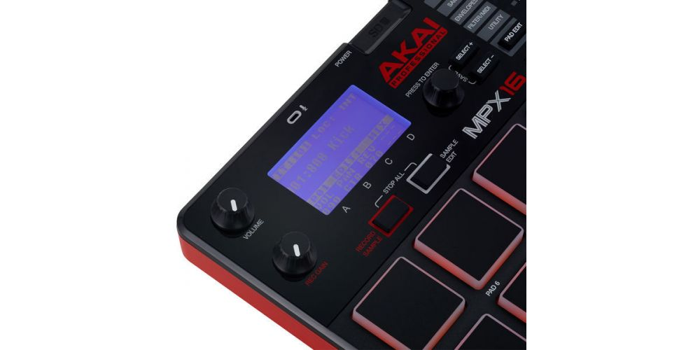 akai mpx16 display