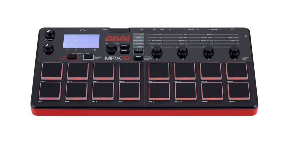 akai mpx16 front