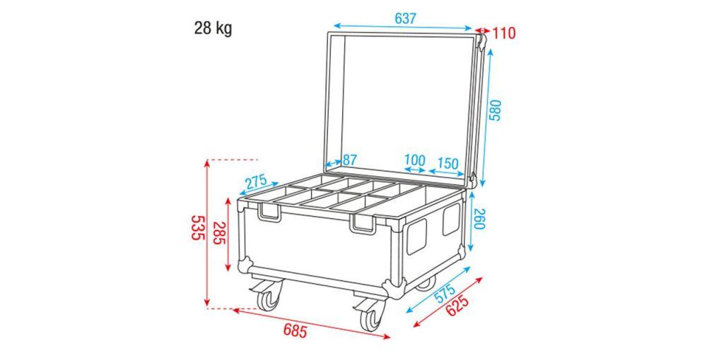 Dap Audio Case for 8 x Compact Par D7475