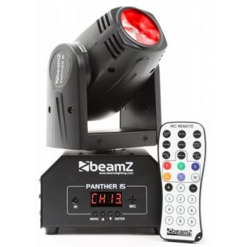 Beamz Panther 15 Cabeza Movil Mini LED Beam 150458