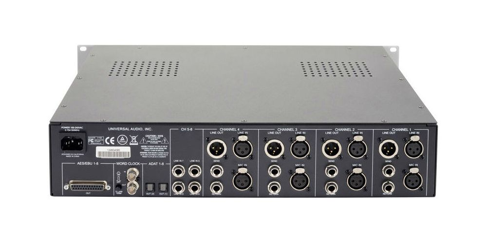 universal audio 4 710d trasera