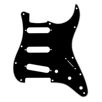 Fender Golpeador Stratocaster S/S/S 11 Agujeros de montaje B/W/B