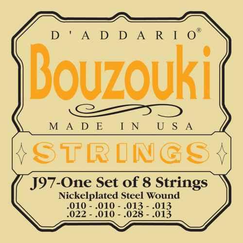 D´addario EJ97 Greek Bouzouki, 8 String, Nickel Wound