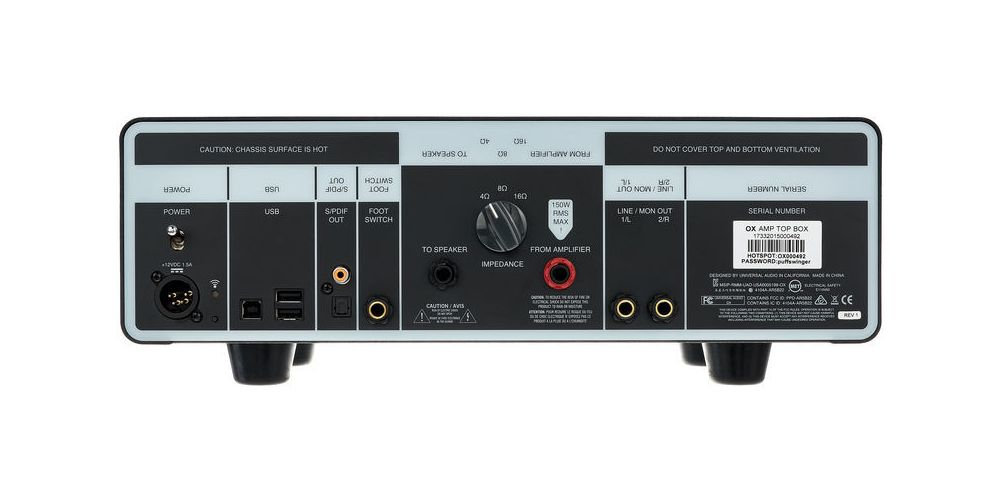 universal audio ox amp top box comprar