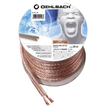 Oehlbach Speaker Cable 2x2,50mm Clear 20 metros Spool
