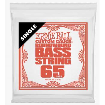Ernie Ball 1665 Slinky Entorchado Redondo Cuerda Suelta Para Bajo 065
