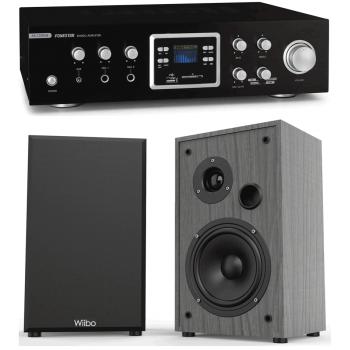 Equipo HiFi Multimedia Karaoke Fonestar AS123RUB + Altavoces HiFi Estantería Wiibo String 15