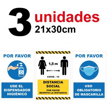 Audibax Kit 3 Vinilos .Prevención Covid 19