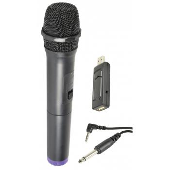 QTX UMIC Micrófono Inalámbrico UHF de Mano Alimentado por USB Frecuencia: 864.8MHz