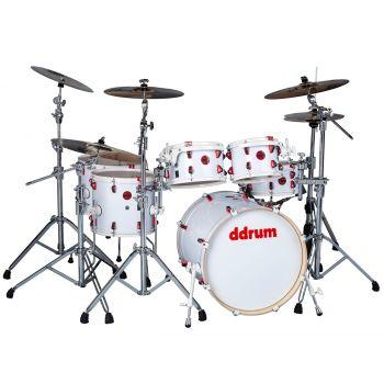 Ddrum Hybrid 6 Kit White. Set de Batería Acústica