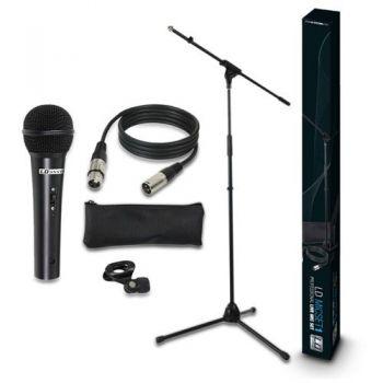 LD SYSTEMS LDMICSET1 Microfono de Mano con Soporte.Pinza y Cable