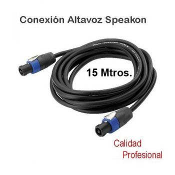 Cable Speakon a Speakon 15 metros , SPEAKON15M RF:19