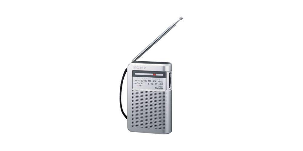 sony icfs10 silver radio fm am