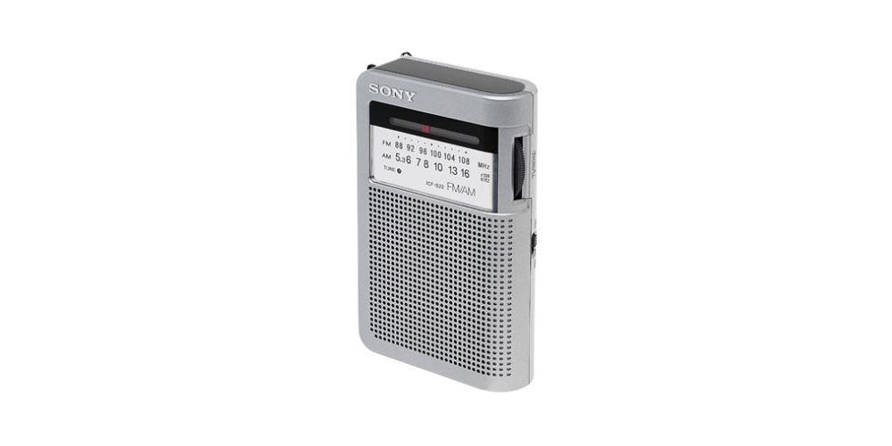 sony icfs10 silver radio fm
