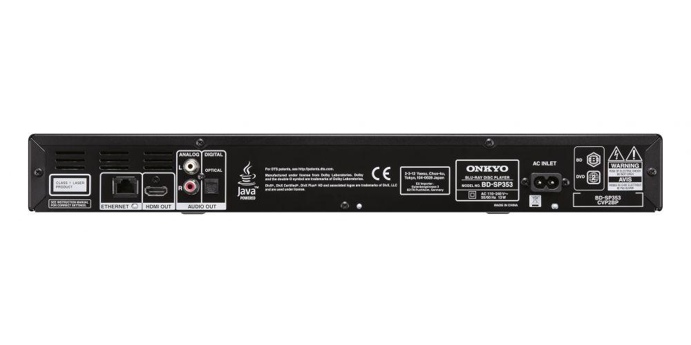 onkyo BD SP353 bk conexiones