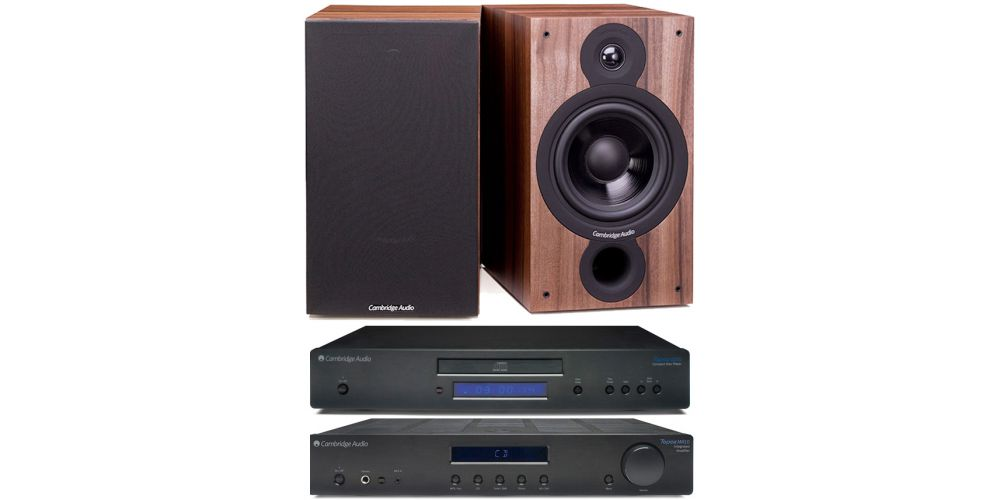 cambridge topaz am10 cd10 sx60 walnut amplificador estereo altavoces