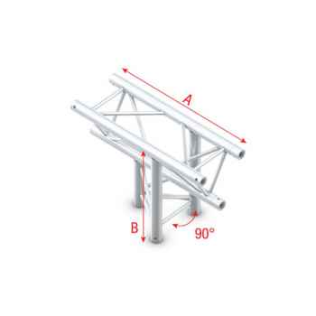 Showtec T-Cross up down 3-way Cruce de Truss Triangular DT22023