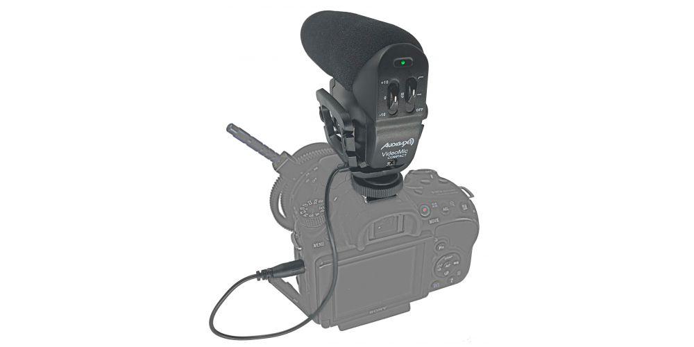 audibax videomic compact microfono camara barato