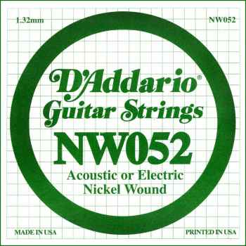 D´addario NW052 Cuerda Suelta para Guitarra Eléctrica