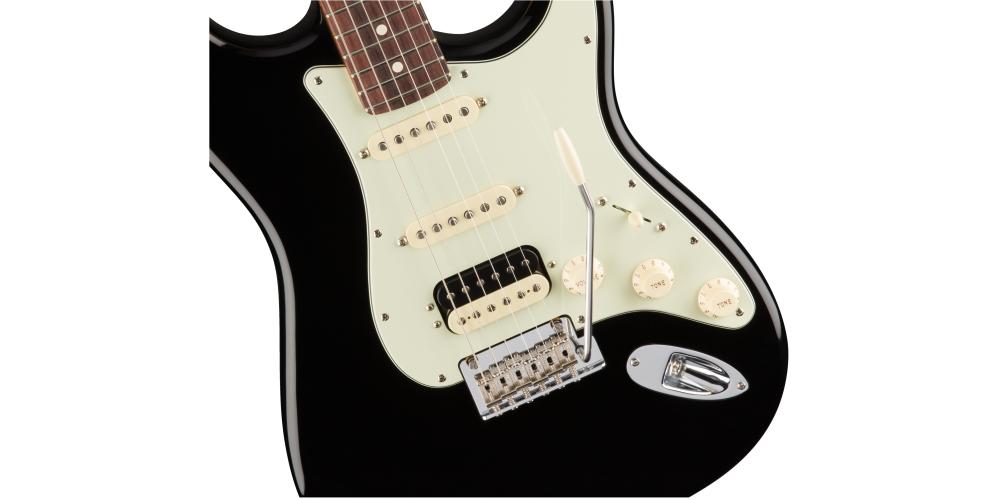 fender american pro stratocaster hss shawbucker rosewood fingerboard black pastillas