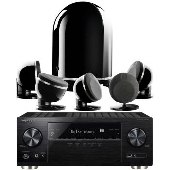 Pioneer VSX-933 BK+Dome 5.1 Black Conjunto Home Cinema