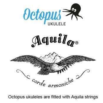 Octopus UK 200 BR Ukelele Soprano Acabado Natural con Funda