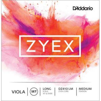 D addario DZ410 Cuerdas para viola escala larga Zyex-MM, tensión media