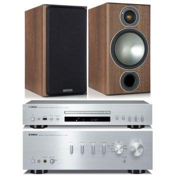 YAMAHA AS501SI+CDS300SI+Monitor Audio Bronze 2 Walnut Conjunto audiio