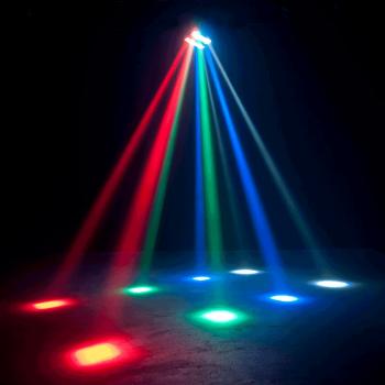 Ibiza Light LED 8-MINI Efecto de Iluminación Mini Spider