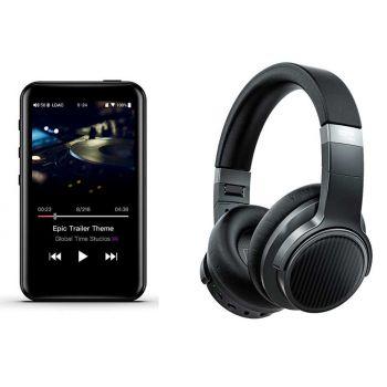 FIIO M6 Reproductor-Hi-res+Edifier EH3NC Auriculares Bluetooth Cancelacion Ruido