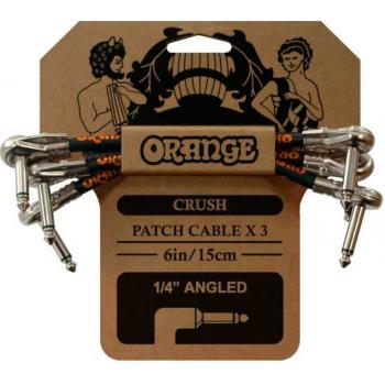 Orange 3 Pack Crush Patch Cable de Patch jack .15cm