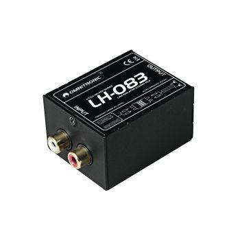 Omnitronic LH-083 Aislador Estéreo RCA