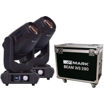 MARK 2 x Beam WS 280 Cabeza Móvil y Rack