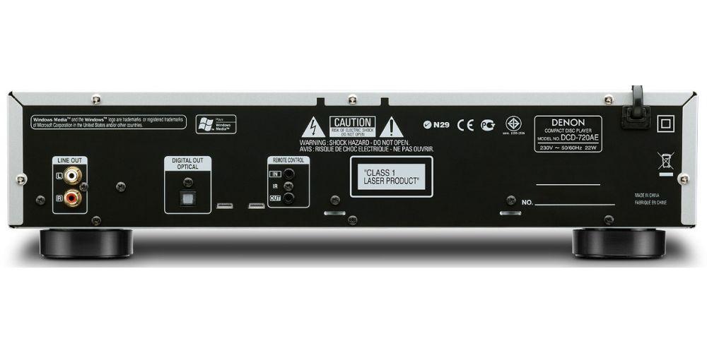 denon dcd720back compact disc conexiones