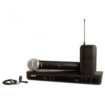 SHURE BLX1288CVL Microfono inalambrico dual de Mano y Solapa