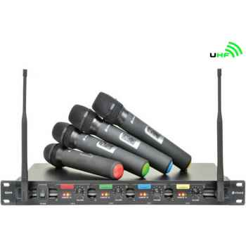 CHORD QU4-H Sistema Inalambrico UHF 4 Microfonos de Mano 171840