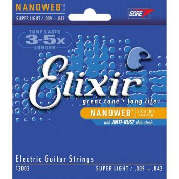 Elixir Juego de Cuerdas Guitarra Eléctrica Nanoweb 9-42