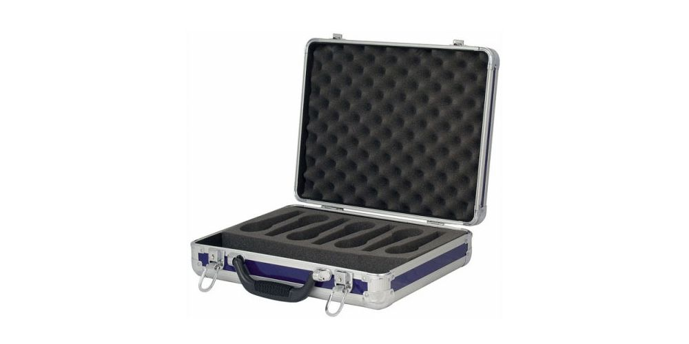 dap audio case for 7 microphones d7304u open