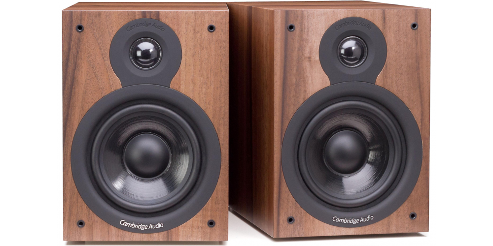 cambridge sx50 walnut altavoces estanteria