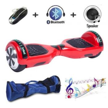 SEC Smart Balance Wheel con Leds SEC65BMBN Rojo Bluetooth + Bolsa