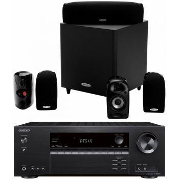 ONKYO TX-NR474 BK+ Polk Audio TL1600 Equipo Home Cinema