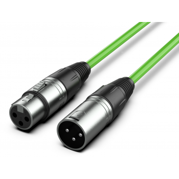 Audibax Silver Cable XLR Macho - XLR Hembra 3 Metros Verde