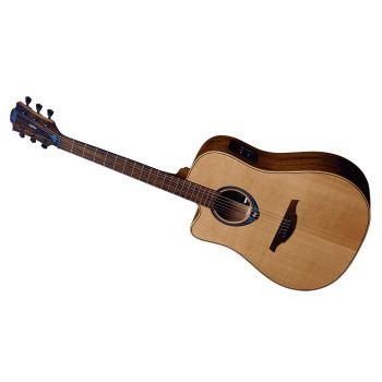 LAG TLHV10DCE Guitarra Acústica Para Zurdos Dreadnought