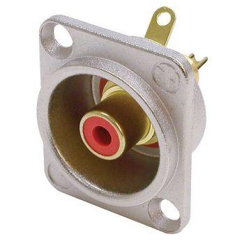Neutrik NF2 D-2 Rojo Conector RCA Base