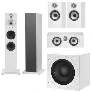 BW 603+BW607+BW HTM6+ASW608 White Conjunto altavoces Home Cinema