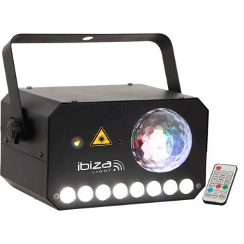 Ibiza Light COMBI-LAS Efecto Iluminacion Combinado Astro Strobo y Laser 3-EN-1