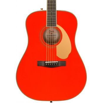 Fender LTD PM-1E Dreadnought Fiesta Red + Estuche